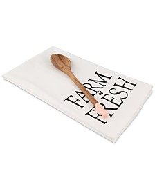 CLOSEOUT! Thirstystone Farm Fresh Tea Towel and Spoon