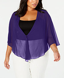 SL Fashions Plus Size Multi-Wear Shawl
