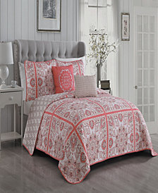 Della 3 Pc Queen Quilt Set
