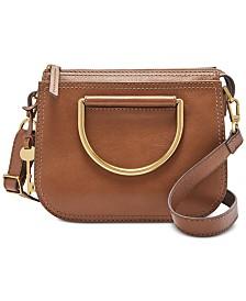 d4ce320534 Fossil Ryder Leather Top Handle Crossbody