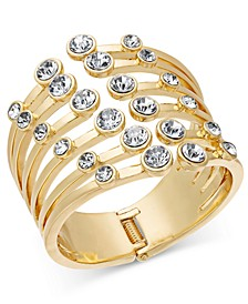 Gold-Tone Crystal Claw Cuff Bracelet, Created for Macy's