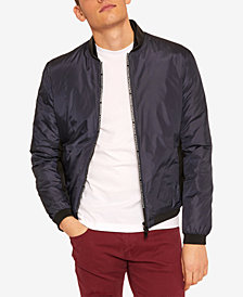 A|X Armani Exchange Men's Lightweight Logo-Zipper Bomber Jacket