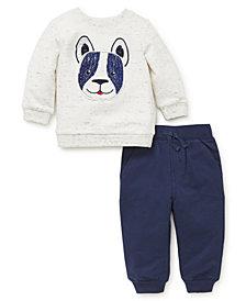 Little Me Baby Boys Dog Sweatshirt Set