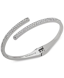 Crystal Bypass Bangle Bracelet