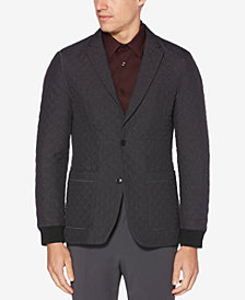 Perry Ellis Men's Slim-Fit Quilted Blazer