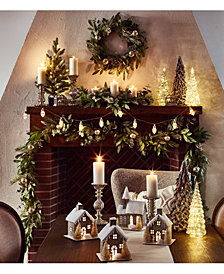 martha stewart woodland frost collection created for macys - Christmas Home Decor