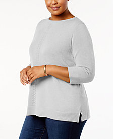 Karen Scott Plus Size Luxsoft Sweater, Created for Macy's