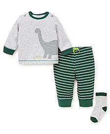 Little Me Baby Boys Dino Jogger Set with Socks