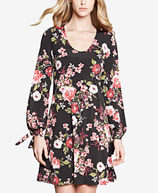 Karen Kane Tie-Sleeve Printed Taylor Dress
