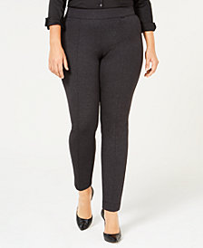 Anne Klein Plus Size Twill Compression Skinny Pants