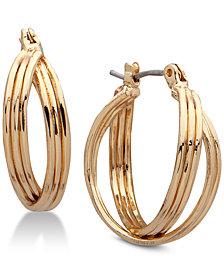 Nine West Multi-Row Twisted Hoop Earrings