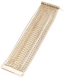 Lauren Ralph Lauren Gold-Tone Beaded Multi-Layer Bracelet