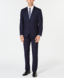 Kenneth Cole Reaction Men's Ready Set Slim-Fit Navy Box Plaid Suit