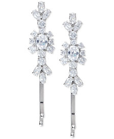 Marchesa Silver-Tone 2-Pc. Set Crystal Cluster Hair Pins