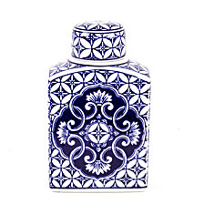 Multi Pattern Front Ginger Decorative Jar
