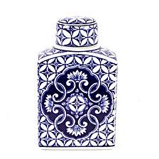 Multi Pattern Front Ginger Decorative Jar