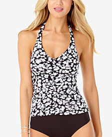 Anne Cole Itsy Bitsy Ditsy Printed Halter Tankini Top