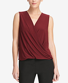 DKNY V-Neck Crossover Shell, Created for Macy's