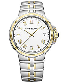 RAYMOND WEIL Men's Swiss Parsifal Two-Tone PVD Stainless Steel Bracelet Watch 41mm