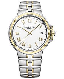 RAYMOND WEIL Men's Swiss Parsifal Two-Tone PVD Stainless Steel Bracelet Watch 41mm
