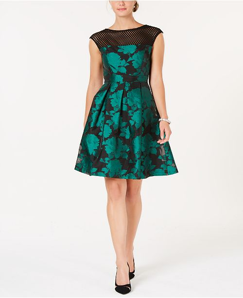 aeb10a325ff julia jordan Mesh & Jacquard A-Line Dress & Reviews - Dresses ...