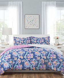 Nicole Miller Aurora Reversible Bedding 5-Piece Twin Set