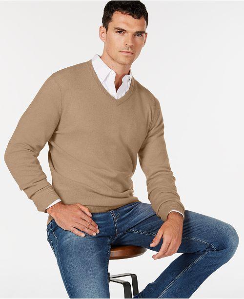 9ae273a2016 ... Club Room Men s V-Neck Cashmere Sweater