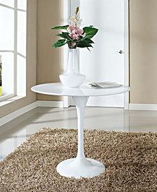 Lippa 36 Inch Round Fiberglass Dining Table