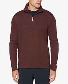 Perry Ellis Men's Textured Quarter-Zip Pullover