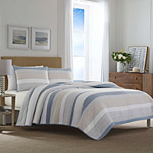 Nautica Terry Cove Dark Beige Quilt Collection