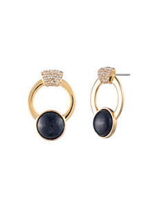 Trina Turk Oversized Pave Hoop Earrings