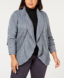Karen Scott Plus Size Cocoon Cardigan Sweater, Created for Macy's