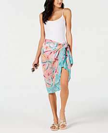 Bar III Copacabana Printed Pareo Cover-Up, Created for Macy's