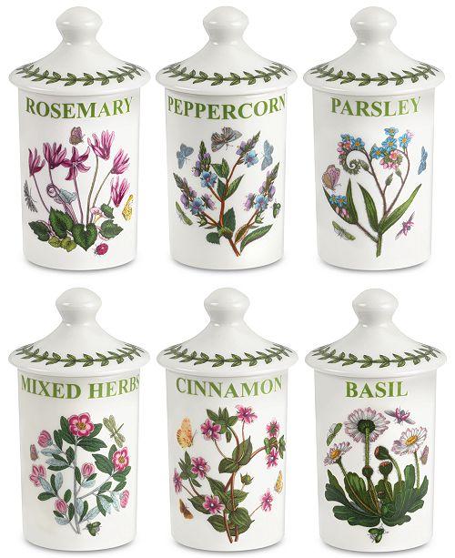 Portmeirion Botanic Garden 6-Pc. Spice Jar Set