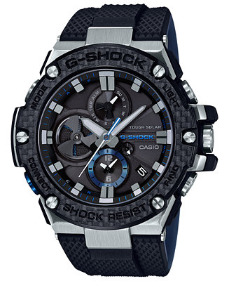 919d21323 G-Shock Men s Solar Black Resin Strap Watch 58.3mm Jewelry Watches - Watches  -