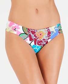Trina Turk Radiant Blooms Shirred Side Hipster Bottoms