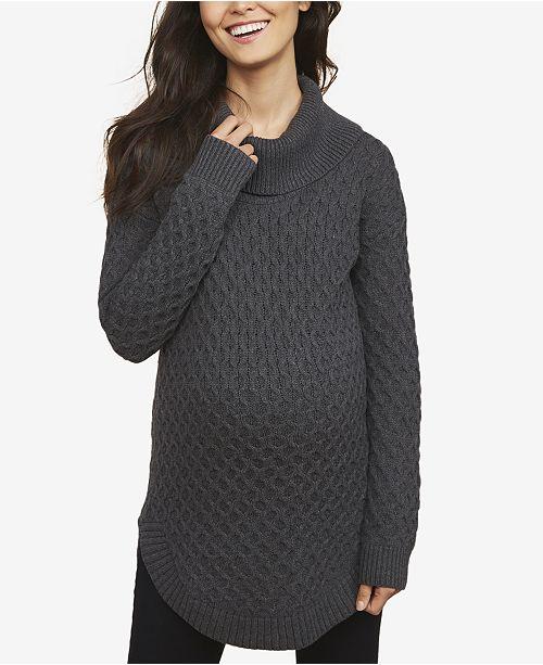 Motherhood Maternity Cowl-Neck Sweater