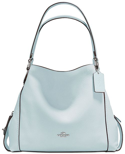 50 Staircases That Expertly Mix Function And Style: COACH Edie Shoulder Bag 31 In Polished Pebble Leather