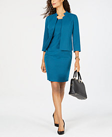 Kasper Flyaway Jacket & Sheath Dress