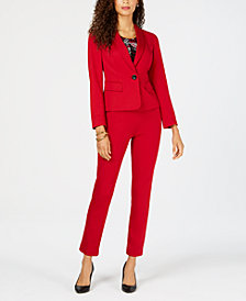 Kasper One-Button Blazer, Printed Shell & Pants