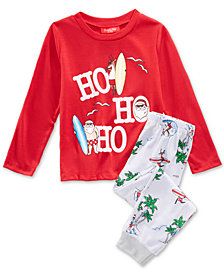 Matching Family Pajamas Surfing Santa Pajama Set, Available in Toddlers and Kids, Created For Macy's