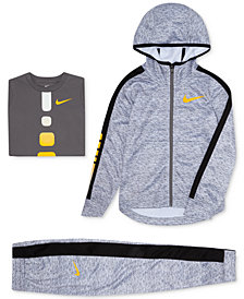 Nike Toddler Boys Elite Hoodie, Gradient T-Shirt & Stripe Pants
