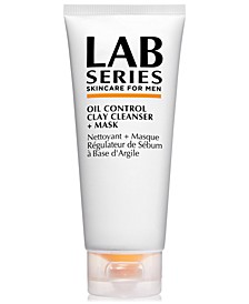 Oil Control Clay Cleanser + Mask, 3.4-oz.