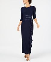 83186206d5c R   M Richards Cascading Sequin-Embellished Dress