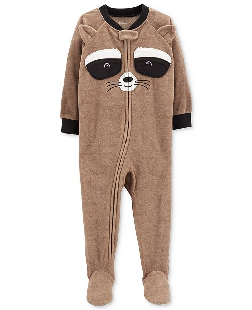 476b33f712f1 Carter s Baby Boys Raccoon Face Footed Fleece Pajamas - Pajamas ...
