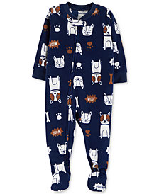 Carter's Baby Boys Dog-Print Footed Pajamas