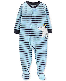 Carter's Baby Boys Striped Polar Bear Footed Pajamas