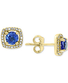 EFFY® Tanzanite (7/8 ct. t.w.) & Diamond (1/8 ct. t.w.) Stud Earrings in 14k Gold