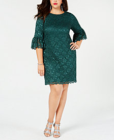 Jessica Howard Plus Size Glitter Lace Sheath Dress