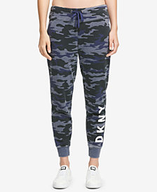 DKNY Sport Camo-Print Fleece Joggers